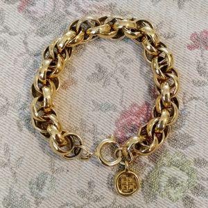 Givenchy gold emblem chunky charm vintage bracelet